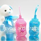 12 Fillable Bottle Pouches Baby Shower Favors Blue Pink Decorations Girl Boy