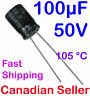 2pcs 100uF 50V 8x11.5mm 105C NiC NRWA For PC PSU TV AUDIO VIDEO TFT ACL LCD LED