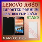ACM-MULTI-COLOR IMPORTED PREMIUM LEATHER CASE for LENOVO A680 MOBILE FLIP COVER
