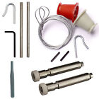 NEW - HENDERSON FULL REPAIR KIT Cables & Rollers (Nuts) garage door spares parts