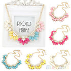 GORGEOUS WOMENS SWEET FLOWER CRYSTAL MULTICOLOR CHOKER COLLAR CHAIN NECKLACE HOT