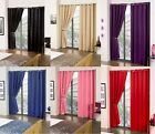 Pair Of Ready Made Thermal Blackout Eyelet Curtains
