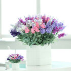 New 10 Heads Artificial Lavender Silk Flower Bouquet Wedding Home Party Decor