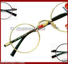 Vintage Small round Men Reading glasses light WT 1 1.5 2 2.5 3 black/gold/gun