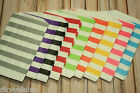 crafty colorful HORIZONTAL STRIPE MIDDY Bitty Bags party favour sweets paper bag