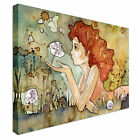 Beautiful delicate and sensitive girl Canvas Art Cheap Wall Print Large Any Size