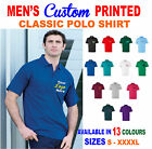 Classic polo Custom printed with YOUR logo/design/company
