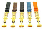 17-18-19-20mm Leather Band Strap Bracelet Deployment Clasp For Rolex 2b Gold