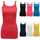 Womens Ribbed Stretchy Vest Fitness Running Sports Ladies Sleeveless Tank Top