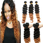 "Factory Price Virgin Brazilian Ombre Hair Weave HumanHair Extension 10""-30"" Hot"