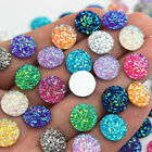 100PCS 12mm AB Round Acrylic Rhinestone flat back Beads crafts Scrapbook ZZ24