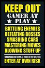 Keep Out Gamer At Play A4 or A3 Laminated Photo Poster