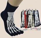 Men Personality Ghost Claws Cotton Antibacterial Five Toe Fingers Socks 3/5Pairs