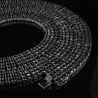 18k Black Gold 4 Row AAA Simulated Diamond Iced Out Tennis Chain HipHop Necklace
