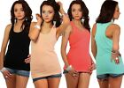 Womens Vest Fit Sleeveless Plain Tank Top Ladies Casual Comfy Tshirt # 61