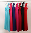 Real New Full Length Flower Bridesmaid Evening Prom Dress Size6 8 10 12 14 16 18