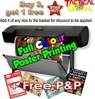 A2 Full Colour Poster Printing High Quality Print - Gloss or Satin 200gsm paper