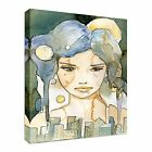 Watercolour Fairy City Night Canvas Art Cheap Wall Print Any Size