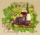 WINE COUNTRY--Vineyard Napa Sonoma Bordeaux Merlot Cabernet Grapes T shirt S-XL