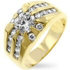 Mens 14k Gold Electroplated 9(ct) Luster and Glitz Sunrise Ring