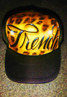 Airbrush Trucker Hat Cheetah Print, Cheetah Hat, Airbrush Hat, Cheetah, Airbrush