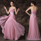 Long Chiffon Bridesmaid Homecoming Party Evening Prom Cocktail Ball Gown Dress 1