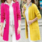 Womens Casual Long Sleeve Cardigan Knit Knitwear Sweater Coat  Outwear Tops
