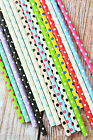 25pc POLKA DOTS Paper Straws colorful dotty vintage retro style kawaii partyware