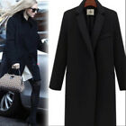 Fashion Womens Wool Cashmere Long Winter Parka Coat Trench Outwear Jacket warm