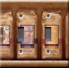 Light Switch Plate Cover - Coffee bags variety - Smooth dark bold aromatic sweet