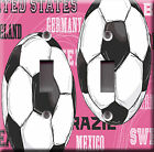Light Switch Plate Cover - Soccer football ball - Sport girl player match pink