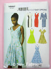 Vogue V8997 Sewing Pattern - Lined Dress - Princess Seams - Easy/Options