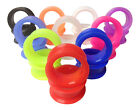 PAIR Soft Silicone Ear Tunnels Plugs - choose from 10 colors up to size 50mm! image