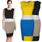 New Contrast Cocktail Party Bodycon Pencil Workwear Mini Short Tea Club Dresses