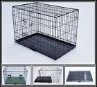 """MEDIUM (30"""") BLACK&SILVER COLORS DOG PUPPY METAL CAGES CRATES,,FOLDABLE CARRIERS"""