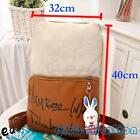 Women Fashion Canvas Leather Handbag Backpack Rucksack School Bag Shoulder Bag