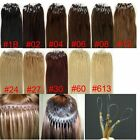 """2014 18"""" 20"""" 22""""  Loop Micro Ring Remy Human Hair Extensions Straight"""