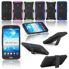 Rugged Armored Hybrid Case Cover Clip Holster For Samsung Galaxy Mega 6.3 i9200