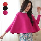 Vogue Womens Knitted Cardigan Outerwear Long Sleeve Cape Sweater Coat Short Tops