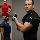 Mens Compression Under Base Layer Sports Wear Tops T-Shirts Tights Slim Fit K