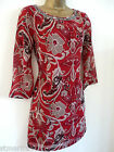 DEBENHAMS COLLECTION DRESS TUNIC SHIFT FLORAL BLACK RED ETHNIC PLUS SIZE 10 - 22