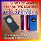 ACM-S-VIEW SMART WORKING SENOR WINDOW LEATHER FLIP CASE for ASUS ZENFONE 6 COVER