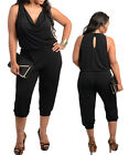 Plus Size Women Black Dating Party Playsuit Size 14 16 18 20 22 24 NEW