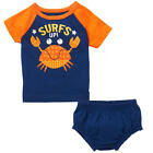 Koala Baby Boys' 2 Piece Short Sleeve Raglan Graphic Top & Diaper Cover Set