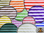 """Organza Stripes Fabric / 60"""" Wide /Sold by the yard"""