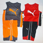 Puma Toddler Boys 2 Piece Shorts Outfits Gray or Red Size 18M 24M 2T  NWT