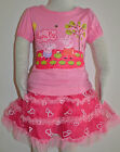 New Girls Pep Top and Skirt Set Hot Pink Size 1,2,3,4,5,6