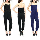 Fashion Womens Celebrity All In One Trouser Strappy Jumpsuit Playsuit Pants UK
