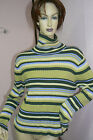 Pierre Cardin Srtipped Turtle Neck Long  Sleeve Seater (grn olive lav) Good Cond