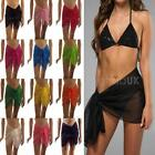 NEW MINI SARONGS SHEER CHIFFON SHORT SARONG WRAP HOLIDAY BEACH SWIMWEAR COVER UP